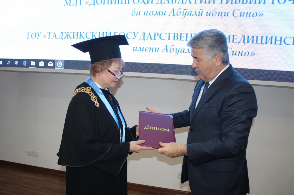 Rector of Medical University of Karaganda is an honorary professor of Avicenna Tajik State Medical University