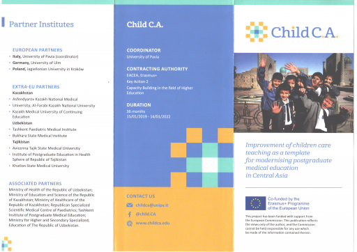 Improvement of Children Care Teaching as a Template for Modernizing Postgraduate Medical Education in Central Asia – CHILDCA
